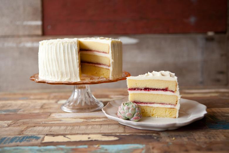 Adding Strawberry Preserves To Pound Cake