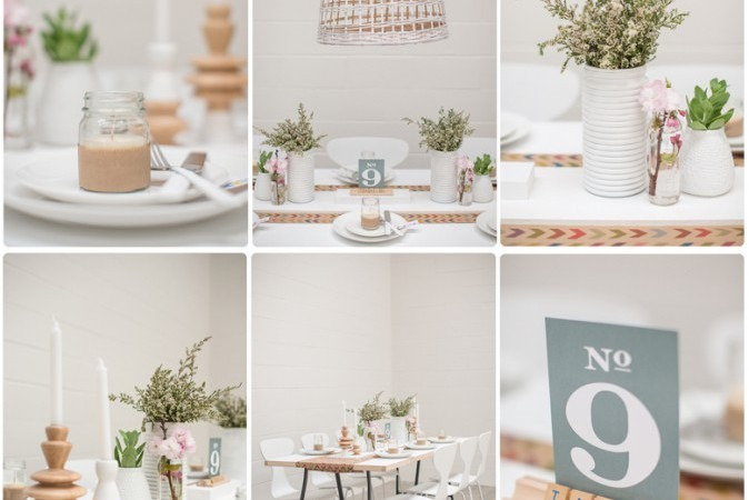 Neutral Table Setting