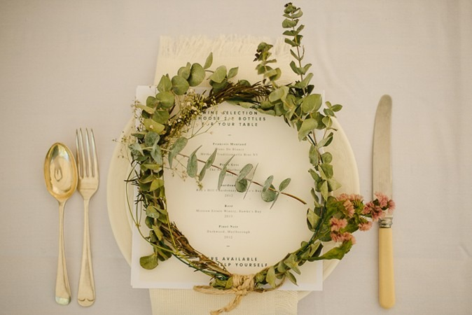Love plate set wedding
