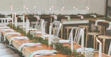 Scandi Christmas Table Setting By All The Frills Made