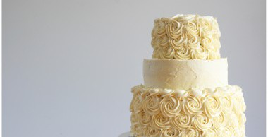 Tiered Rosette Cake Made From Scratch