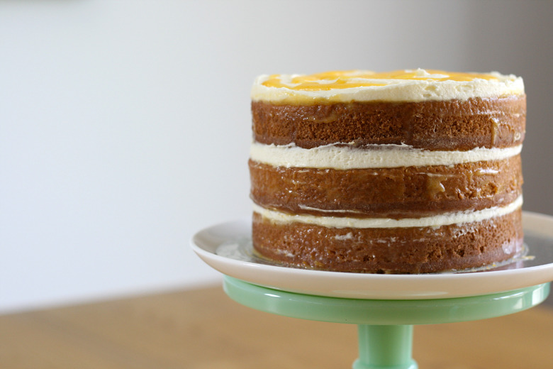 Triple-Layer White Cake With Orange Curd Filling Recipes ...