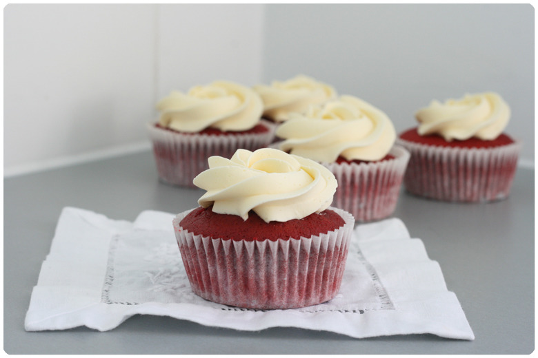 Red Velvet Cupcakes Made From Scratch