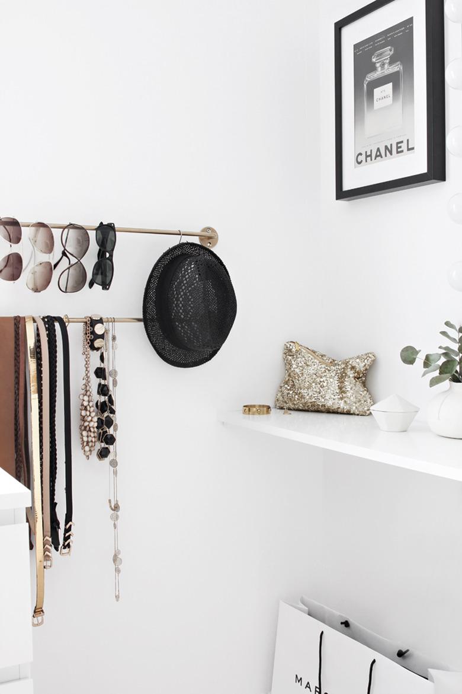 Organizing walk in closet