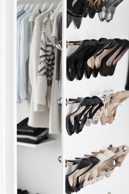 Shoe rack walk in closet
