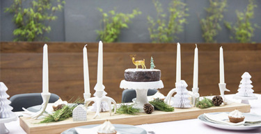 Scandi Christmas Table Setting by All the Frills
