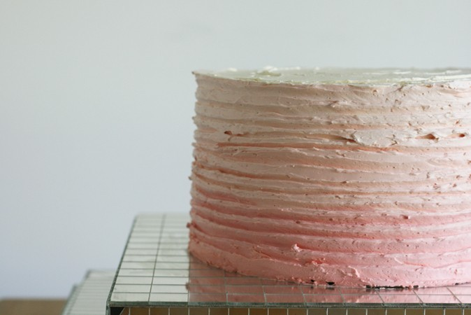 Chocolate Amp Vanilla Ombre Pallet Layer Cake Made From
