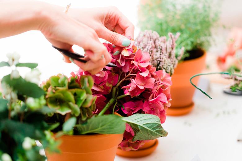 bridal shower floral workshop made from scratch